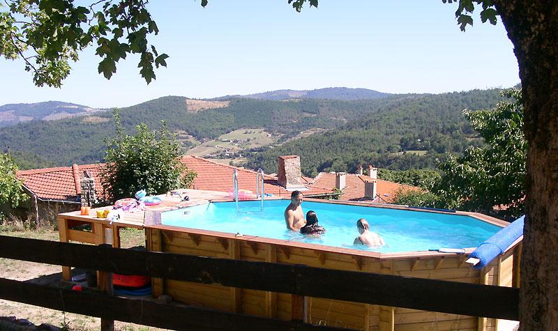 La piscine de la Chastanha