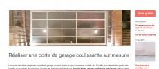 Porte de garage coulissante de portegaragecoulissante.fr : une marque de prestige.